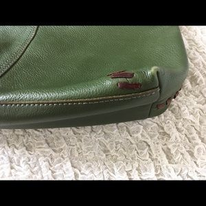 Lucky Brand Bags - Lucky brand Forest green & brown leather bag